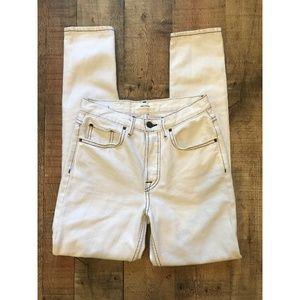Grlfrnd White Denim Jeans Karolina High Rise